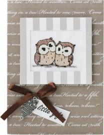 Postcard two owls