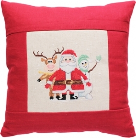cushion santa & friends