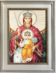 Icon of the mother of god of god reigning