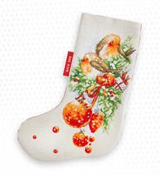 Christmas stocking robin
