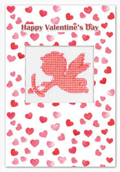 Postcard valentine's day cupid