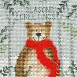 Christmas cards - Xmas bear