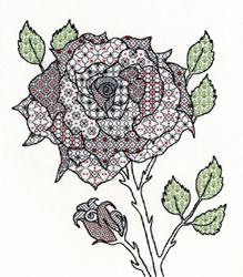 Blackwork - rose