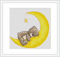 Bruno sleeping on moon