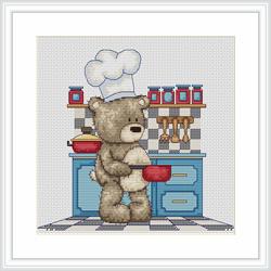 Bruno in kitchen