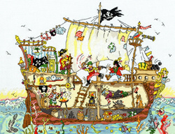Cut thru - pirate ship