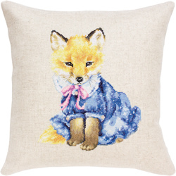Cushion fox in dress
