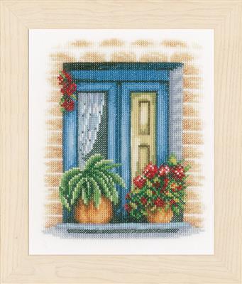 Blauwe raam