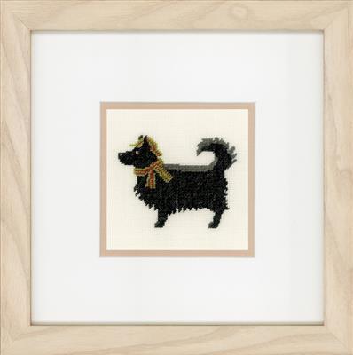 Hondje met hoed