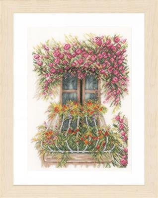 Balkon met bloemen
