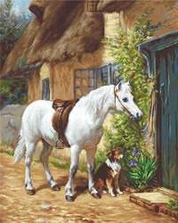 By the cottage