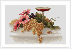 Flowers and Grapes