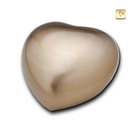 Hart urn goudkleurig mat