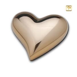 Hart urn sierlijk goudkleurig glans bol
