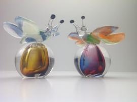 Bol met vlinder (Kristalglas)