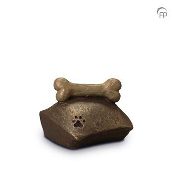 Keramische urn kussen met kluifje