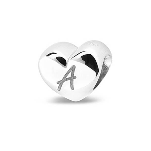 805 S Zilveren hart bedel voor lasergravures