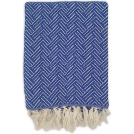 Plaid Vienna Wol - Cobalt Blue - 120x150cm
