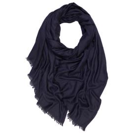 Winter Schal Woll Baumwolle Mix - Dunkel blau