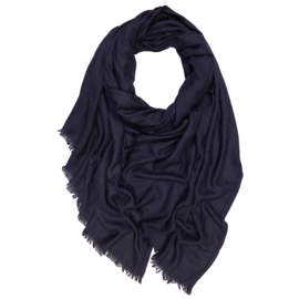 Winter Scarf Mix Wool Cotton - Blue Marine