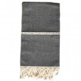 Tweed - Zwart 100x180cm