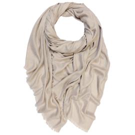 Winter Scarf Mix Wool Cotton - Sand Beige