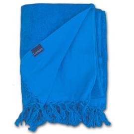 hamamdoek  Badstof - Blauw - 100x210cm
