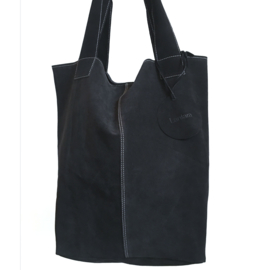 Tote Bag Suede - Black