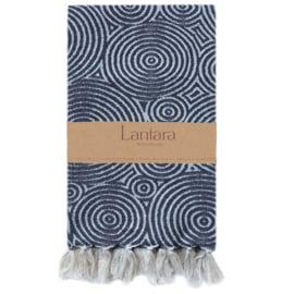 NEW! Hammam towel Circles - Black - 100x200cm