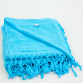 Hamamdoek Badstof - Turquoise - 98x190cm (LANTARA)