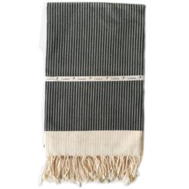 Krijtstreep - zwart - 100x180cm