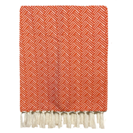 Plaid Wol Vienna - Deep Orange - 160x250cm