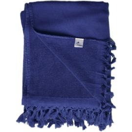 Hamamdoek Badstof - Donkerblauw - 98x190cm