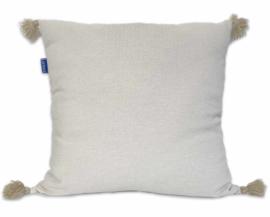 Kissen Pompons - Sand - 55x55cm