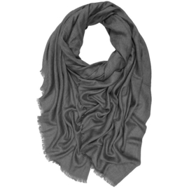 Winter Scarf Mix Wool Cotton - Antracite