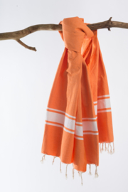 Hamamdoek Berbere -  Oranje  - 100X200cm (LANTARA)