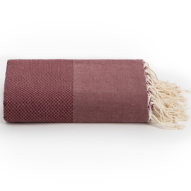 Throw XL - Burgundy Red - 198x300cm (LANTARA)