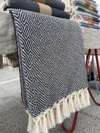 Plaid Sprei Athene - Zwart - 160x250cm