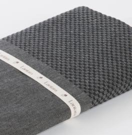 Hammam towel Honeycomb - Black - 100x200cm