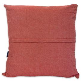 Cushion Ottoman - Dark Terracotta - 55x55cm