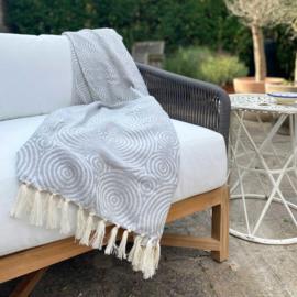 NEW! Hammam towel Circles - Grey - 100x200cm