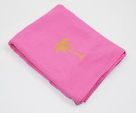 Hammam towel terry  Palm tree - Pink - 98x190cm