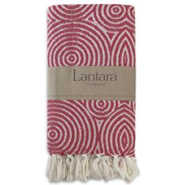 NEW! Hammam towel Circles - Red - 100x200cm