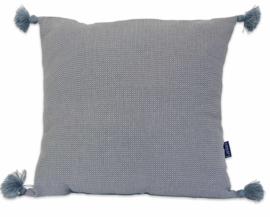 Kissen Pompons - Grau - 55x55cm