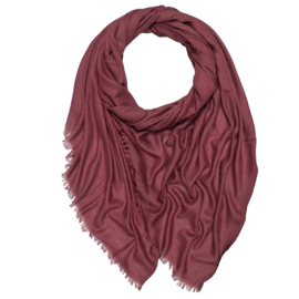 Winter Scarf Mix Wool Cotton - Red