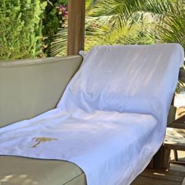 Hammam towel terry Palmtree - White - 98x190cm