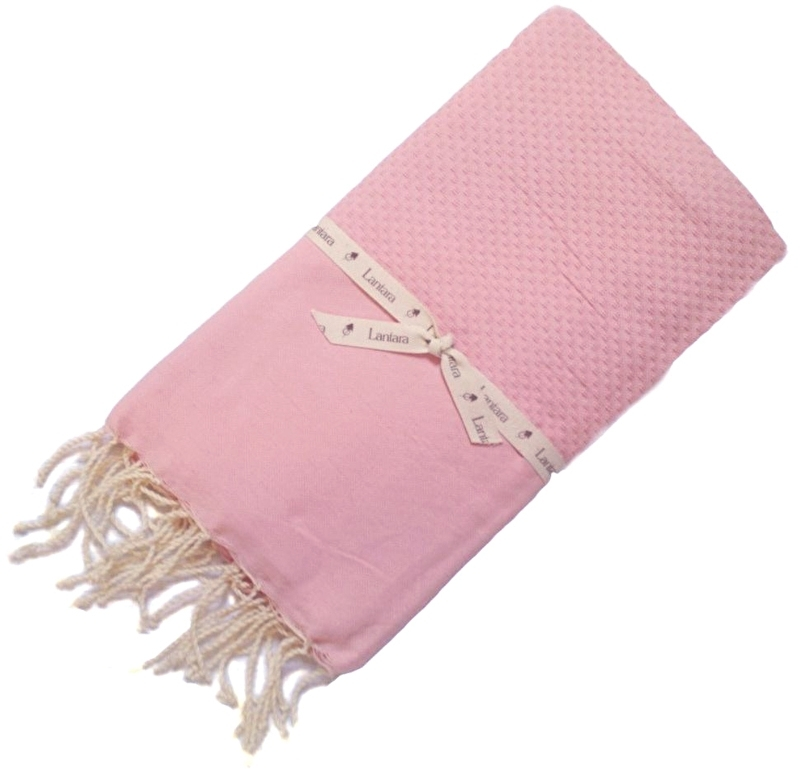 Hammamtowel Honeycomb - Baby Pink - 100X200cm (LANTARA)