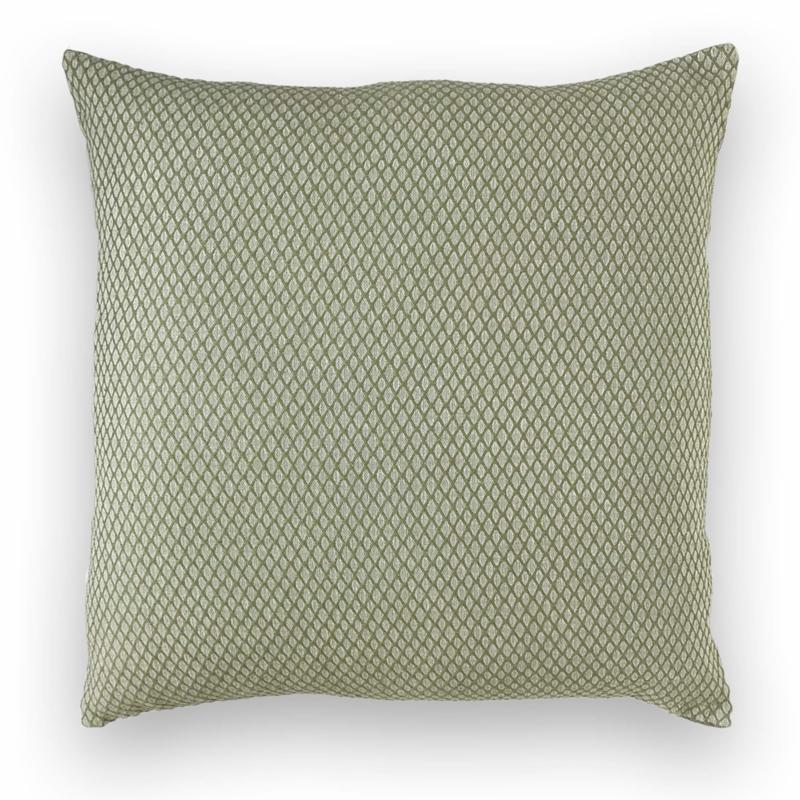 Cushion Ottoman - Olive Green - 55x55cm