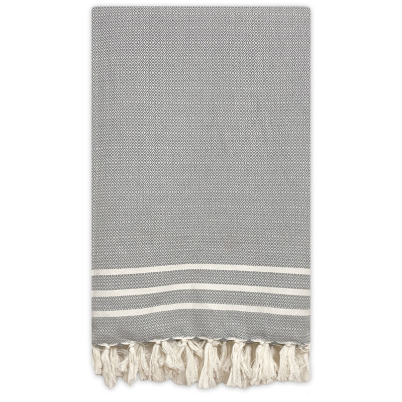 Plaid Diamant Stripes - Grey - 160x250cm