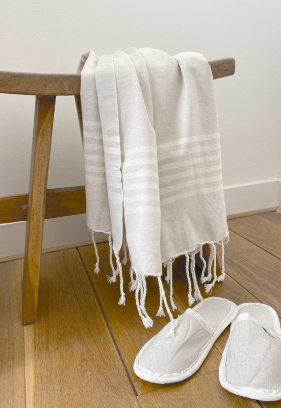 Hammam towel Provence - Light Sand - 100X200cm